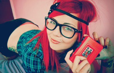 redhead hipster